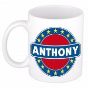 Bellatio Decorations Voornaam Anthony koffie/thee mok of beker