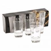 Merkloos 4x stuks shotglaasjes 5 cl - borrel glaasjes voor drankspelletjes