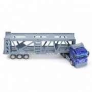 Masinuta camion transport metalic albastru