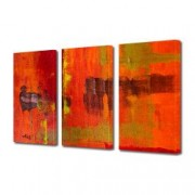 Tablou Canvas Premium Abstract Multicolor Culori Topite In Foc Decoratiuni Moderne pentru Casa 3 x 70 x 100 cm