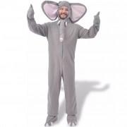 vidaXL Karnevalový kostým slon šedý M–L