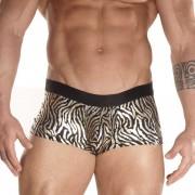 Don Moris Zebra Printed Boxer Brief Underwear Silver DM031781