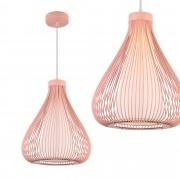 [lux.pro]® Dekorativní závěsná lampa 'Nizza' [růžová] - 1 x E27
