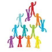 Set educativ figurine pentru copii Learning Resources - Omuleti ce se suprapun