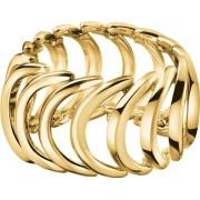 Calvin Klein Inel din oțel placat cu aur KJ2WJR1001 52 mm