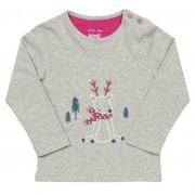 Kite Baby Girls Reindeer T-Shirt