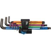 WERA 950/9 Hex-Plus HF 1 L-key set, Blacklaser