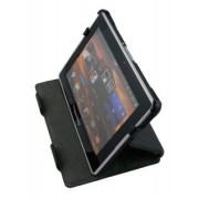 Synthetic Leather Flip Case with Stand for BlackBerry PlayBook - Blackberry Leather Flip Case (Black)
