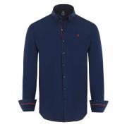 Giorgio Di Mare Worked Long Sleeved Shirt Navy GI9759264