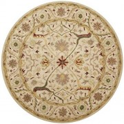 Safavieh AT14A-8R Hand Tufted Rug, Round, Color Ivory,, Pack of/Paquete de 1