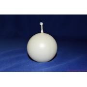 GÖMB Fehér gyertya 6 cm