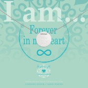 Heart to get IAM437N-FOREVER-S forever in my heart ketting zilver