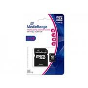 Mediarange Micro SDHC 4GB CL10 + adapter memóriakártya