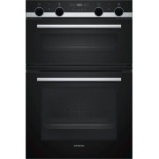 Siemens iQ500 MB535A0S0B Double Built In Electric Oven - Black
