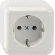 Schneider Electric Contura opbouw wandcontactdoos opbouw enkel randaarde incl. montageplaat wit 385004