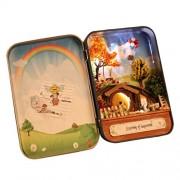 Phenovo Novelty Mini DIY LED Dollhouse in Box Miniature Doll House Kits Kids Present - My Dream Flying