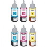 Original Epson Tricolor Ink Pack of 6 (664 tricolor 2 set)