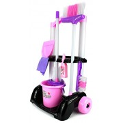 Toyshine Little Helper Cleaning Trolley Cart '32' with Many Cleaning Accessories