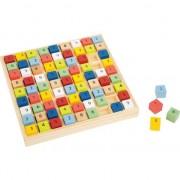 Joc SUDOKU copii cuburi lemn multicolore, Legler Small Foot Educate