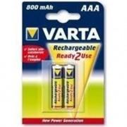 VARTA Lot de 2 piles rechargeables ACCU AAA 800mAh