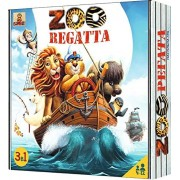 New! ZOOregatta Board Game for Kids for 4 and Up. Adventure Board Game for Kids with Sailing Ship Models. 3 Adventures in 1 Box. Action Board Game for Kids with 2 Scenarious