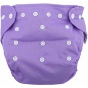 jsr brothers Reusable Infant Diapers Grid Soft Covers Washable Size Adjustable (Purple)