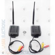 Kit Wireless 4CH Stagno WaterProof IP68 Trasmettitori Video a Lungo Raggio 2.4Ghz 3.5Watt 2500mt