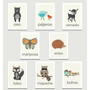 "Children Inspire Design Nature Animals in Spanish Mini Collection Wall Card Prints 11x14 "" Print Animals Flash Cards Minimalist Design Calming Colors Wall Cards Educational Cards Children Animal Cards"