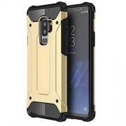 JIANGNIMX Teléfono Protector For Samsung Galaxy S9 TPU PC Protección de 360 Grados a Prueba de Golpes Funda Protectora Trasera (Color : Gold)