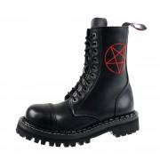 Stiefel Boots STEADY´S - 10 dírkové - Pentagramm rot - STE/10/H_pentagram rot