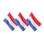 Merkloos 3x Nederlandse vlaggen 100 x 150 cm