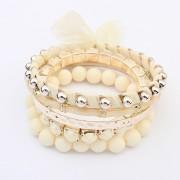 BAGISIMO Kombinace náramků v bílé a zlaté barvě