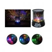 Asztali kislámpa-projektor csillagok az éjszakai égbolton