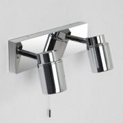 Astro Como Twin wandlamp exclusief 2x GU10 chroom 7x12.5cm IP44 staal A 6121