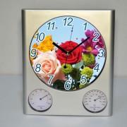 Ceas cu indicator de temperatura si umiditate, personalizat cu fotografia dorita