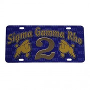 Desert Cactus Sigma Gamma Rho Line #2 Numbered Car Tag Line Number Acrylic Printed Decorative Tag For Front Back of Car