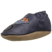 Robeez Boys' Elephant Eddie Crib Shoe, Big Dig Navy, 12-18 Months M US Infant