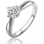 Silvego Stříbrný zásnubní prsten SHZR302 51 mm