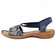 Sandale dama - bleumarin, Rieker - 608B9-12-Blue