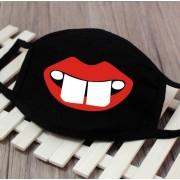 Masky na tvár textilné 100% bavlna - Zubatý úsmev