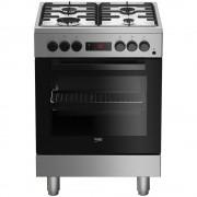 Beko FSE62110DXF Cucina a Gas 60x60cm 4 Fuochi Forno Elettrico Multifunzione