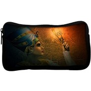 Snoogg Cleopatra Digital Poly Canvas Student Pen Pencil Case Coin Purse Utility Pouch Cosmetic Makeup Bag