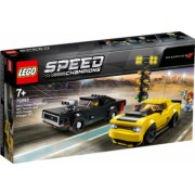 LEGO Speed Champions Dodge Challenger SRT Demon 2018 si Dodge Charger R/T 1970 75893
