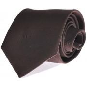 Krawatte Seide Braun Uni F45 - Braun