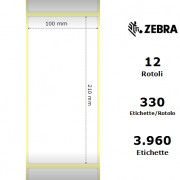 Etichette Zebra - Z-Perform 1000D, formato 100 x 210
