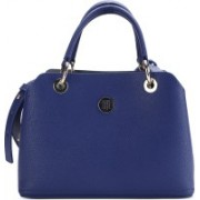 Tommy Hilfiger Women Casual Blue PU Satchel