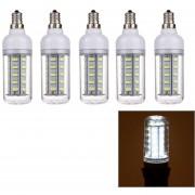 5 Pcs 3w E12 36 Leds Smd Ericsson Maíz Bombilla, Ac 220 - 240v (luz Blanca)