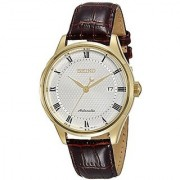 Seiko Brown Leather Round Dial Quartz Watch For Men (SRP770K1)