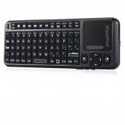 IPazzPort KP - 810 - 10BTTL Mini Teclado Inalámbrico Bluetooth QWERTY Con Retroiluminación (Negro)