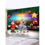 Rosegal Tapisserie Murale de Décoration Imperméable Père Noël et Sapin Imprimés Largeur 91 x Longueur 71 pouces